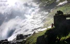 Норвежский водопад Кьусфоссен