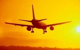 Passenger Jet Landing