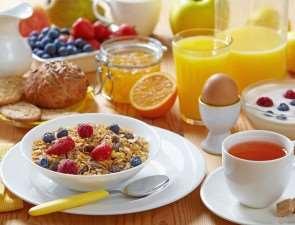 Легкий завтрак и сытный ужин