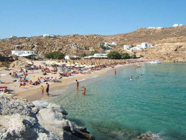 Остров Миконос Пляж