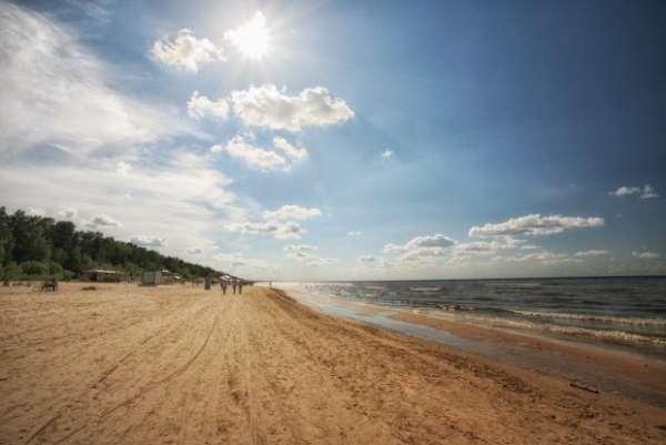 пляж юрмала