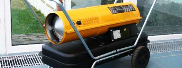 Применение дизельной тепловой пушки