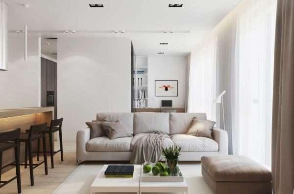 Светлый и просторный интерьер квартиры доступен каждому