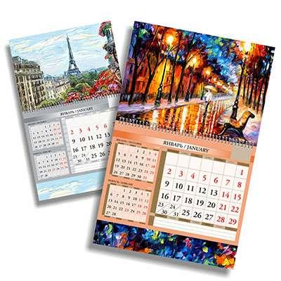 Квартальные календари – один из наиболее эффективных видов рекламы