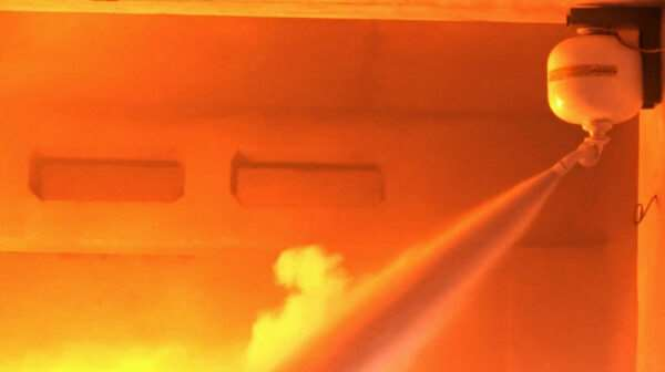 Принцип действия установок порошкового пожаротушения