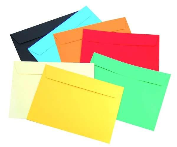 Применение почтовых цветных конвертов для рекламных целей