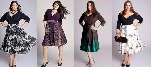 Женские платья и юбки под полную фигуру