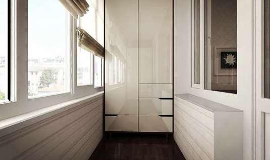 Шкафчик на балкон — дополнение стиля и практичность