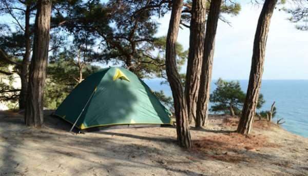 Отдых на Черном море в палатках