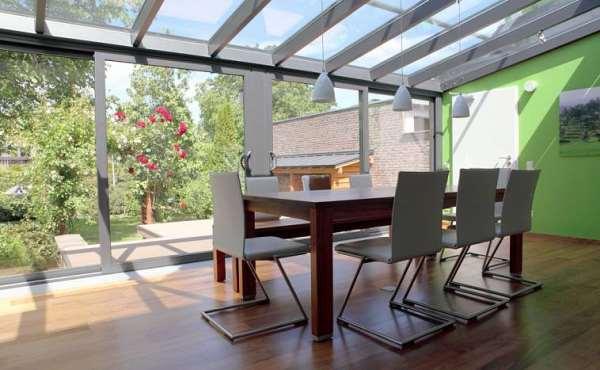 Раздвижная крыша для террасы — большое освещение