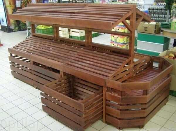 Крупный деревянный прилавок по доступной цене