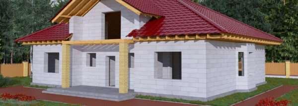 Дом из газобетона — идеальная геометрия