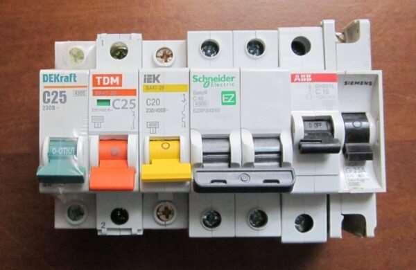 Выбор выключателей-разъединителей автоматических