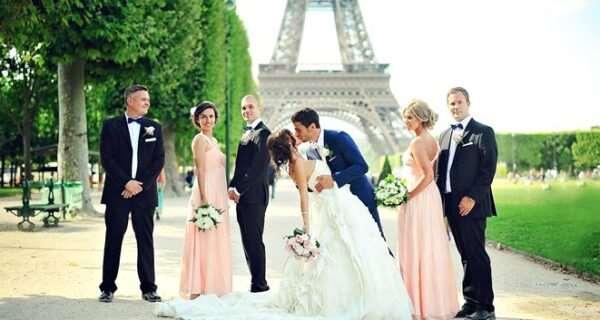 Свадьба в Париже — запоминающаяся романтика