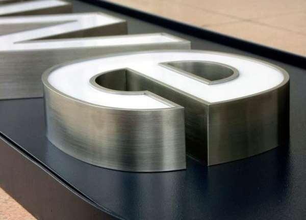 Качественные объемные буквы из нержавеющей стали
