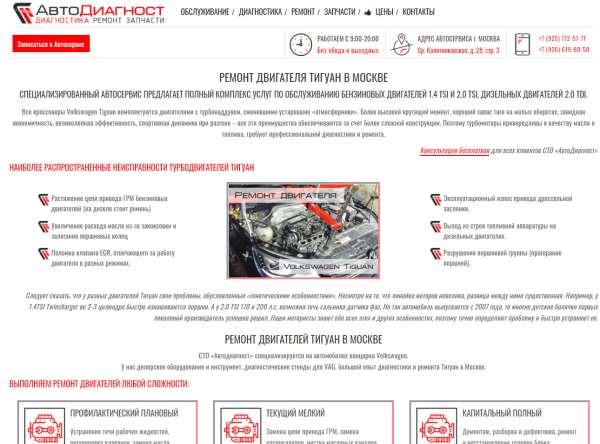Профессиональный ремонт двигателей Тигуан